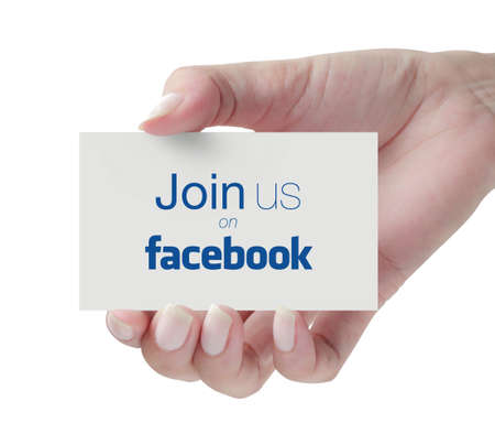 Johor, Malaysia - Aug 20, 2014: Facebook is a largest social networking website in the world, Aug 20, 2014 in Johor, Malaysia.
