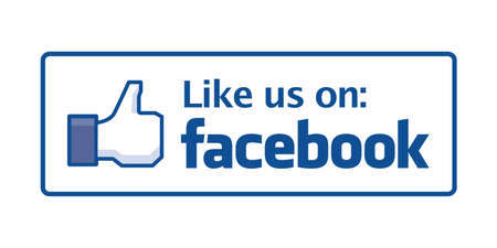 Johor, Malaysia - Sep 15, 2014: Like us on Facebook icon, Facebook is a popular free social networking website in the world, Sep 15, 2014 in Johor, Malaysia.