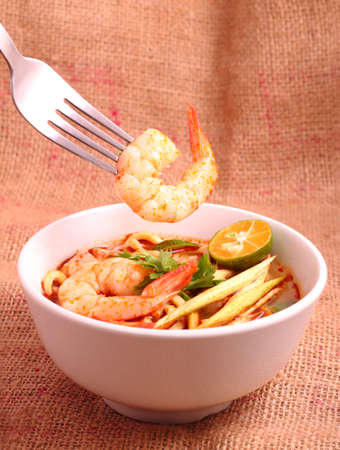 thai noodle soup: Tom Yam is one of Thailand