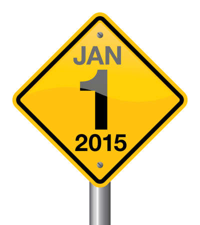 new direction: 2015 new year road sign