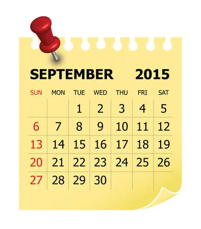 sep: Simple calendar for September 2015
