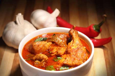 chicken curry: H�hnchencurry mit Zwiebeln und Chili Lizenzfreie Bilder