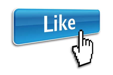 like button: like button and hand cursor