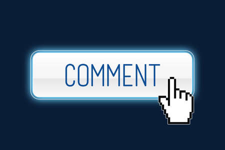 cursor: Comment button with hand cursor Stock Photo