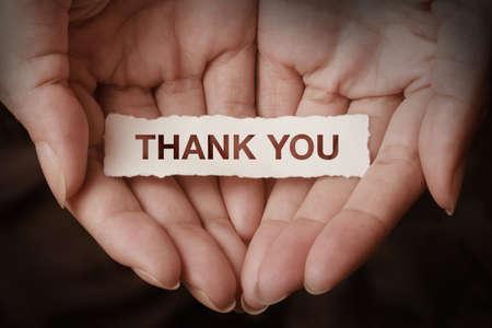 merci: Merci texte sur le concept de la conception de la main Banque d'images