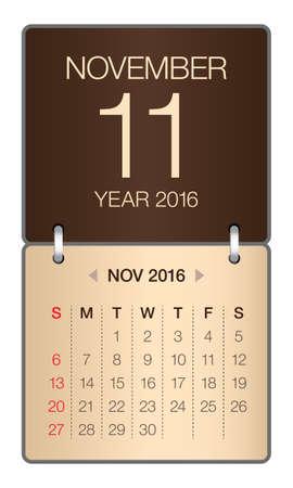 november: Simple calendar for November 2016
