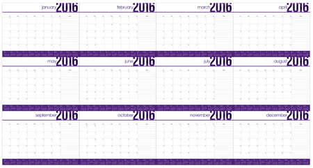 appointments: Simple table calendar for 2016 year