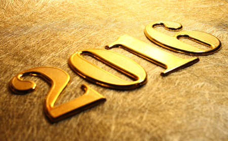 and gold: 2016 gold numbers text on gold background Stock Photo
