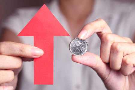 compared: Appreciation of the Malaysian Ringgit means the Malaysian Ringgit is getting more valuable when compared with other currencies. Stock Photo