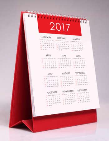 calendrier: Simple desk calendar for year 2017 Banque d'images