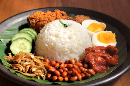 Nasi Lemak is a commonly found food in Malaysia, Brunei and Singapore. It is also an unofficial national food in Malaysia.