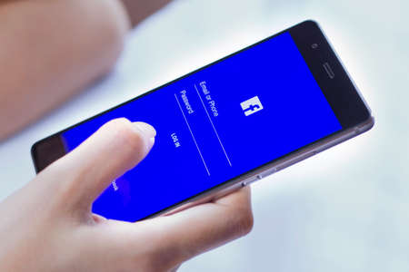 Johor, Malaysia - Feb 8, 2017: Facebook is a social networking website that makes it easy for you to connect and share with your family and friends online, Feb 8, 2017 in Johor, Malaysia.