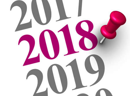 Close up of year 2018. We wish you a new year filled with wonder, peace, and meaning.