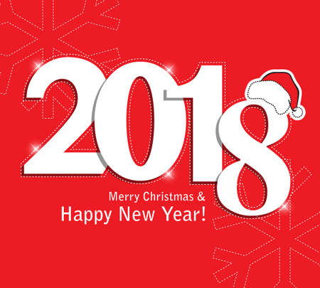 Merry christmas and Happy New Year 2018, wish you all the best as always in this coming new year. Illustration