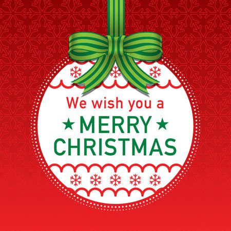 Christmas ball vector illustration, colorful design. Wishing you wonderful memories during this joyous season.