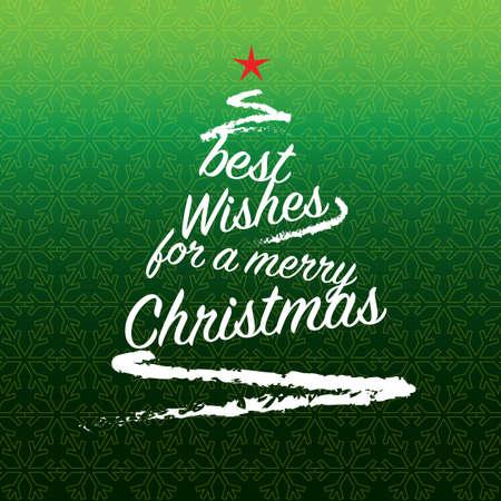 Christmas tree vector illustration, colorful design. Wishing you wonderful memories during this joyous season. Vettoriali