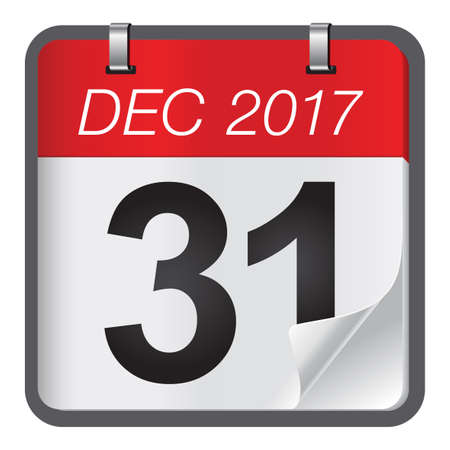 Calendar of last day on month of december. New Year is coming, wish you all the best as always in this coming new year.