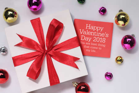 Valentines day card and gift. Valentines Day is an annual holiday celebrated on February 14.