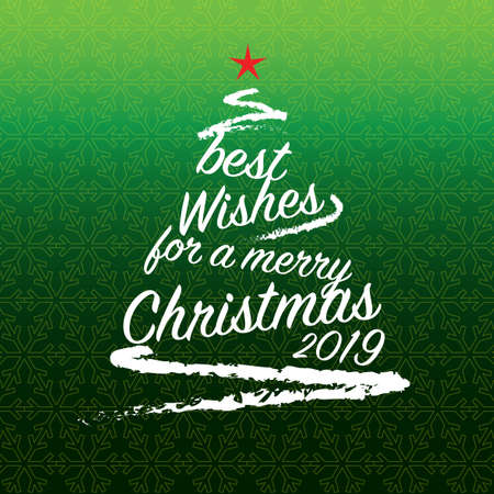 Christmas tree vector illustration, colorful design. Wishing you wonderful memories during this joyous season. 向量圖像