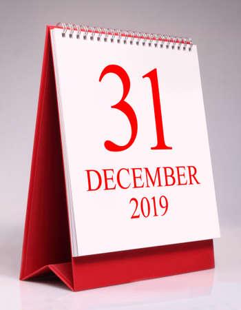 Simple desk calendar for New year eve 2020