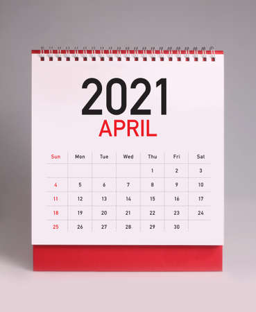 Simple desk calendar for April 2021 版權商用圖片 - 159311600