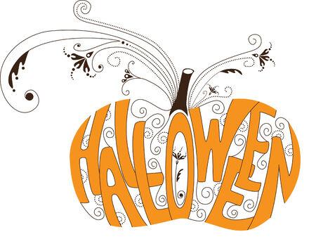 threaten: Halloween pumpkin Illustration