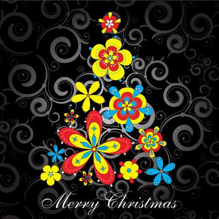 bright christmas tree Stock Vector - 9039695