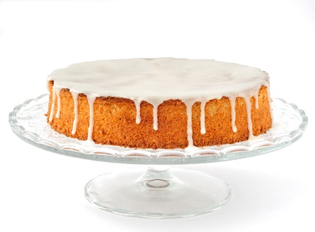 cake stand: Carrot and Almond Cake