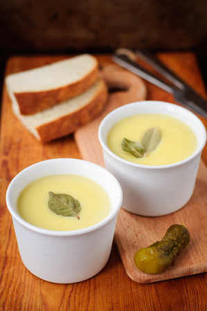 clarified: Baked Chicken Liver Pate Topped with Melted Butter Stock Photo