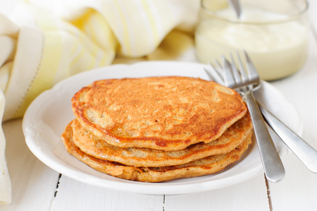 carrot cakes: A Stack of Pumpkin Pancakes