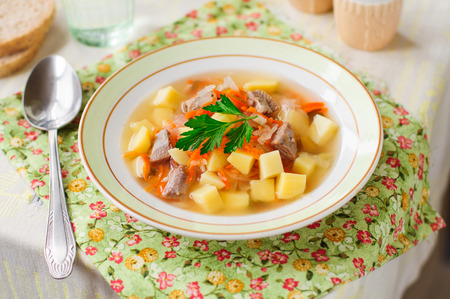 Russian Sauerkraut Soup, Shchi (Stchi) with Turkey