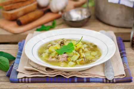 chunky: A Plate of Summer (Spring) Chunky Sorrel Soup