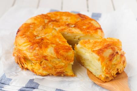 cabeza abajo: Al rev�s crujiente de patata de Down en capas Hornear (torta)