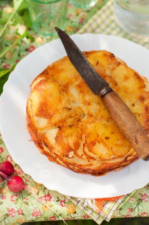 upside: Summer Upside Down Layered Potato Bake(Cake)