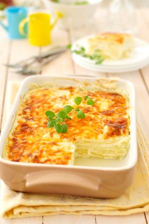 sauce dish: Zucchini Lasagna, vegetable and bechamel bake