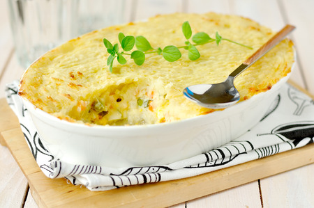 stuffed fish: fish pie