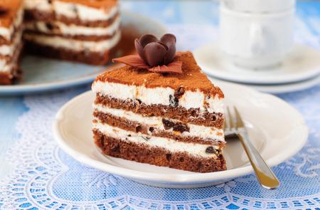ciruela pasa: Un trozo de chocolate, Quark y la pasa Layer Cake