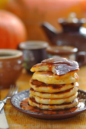 teaparty: A stack of pumpkin pancakes