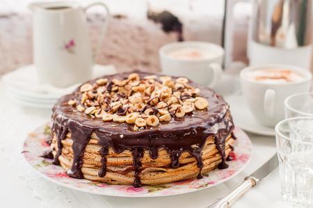 maslenitsa: Chocolate and Hazelnut Crepe Cake, Maslenitsa