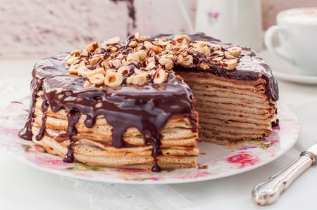 Chocolate and Hazelnut Crepe Cake, Maslenitsa