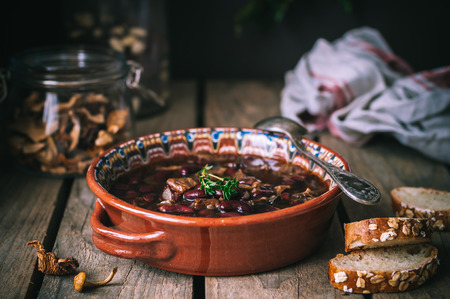 kinfolk: Dried Wild Mushroom and Kidney Bean Soup