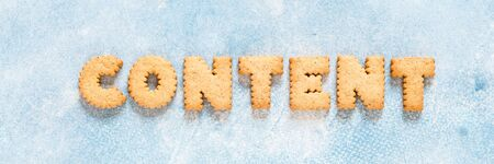 Crackers Arranged as a Word Content, banner