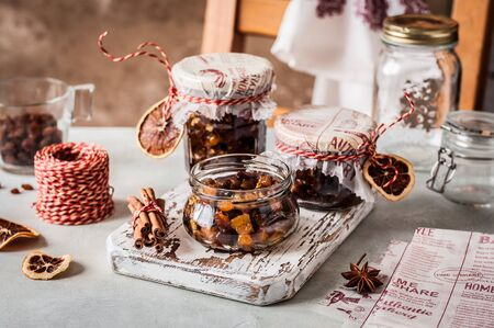 Christmas Fruit Mince in Jars, British Mincemeat