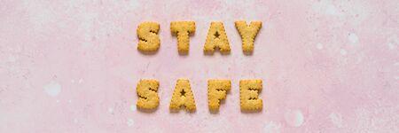 Coronavirus, COVID-19, Social Disdancing Concept, Self-Quarantine, Isolation, Stay Safe Message, banner Stock Photo