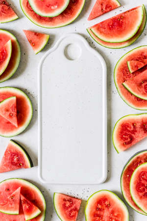A Frame of Watermelon Slices, copy space space for your text