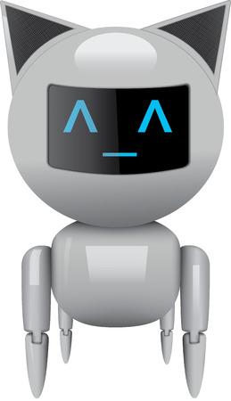 Robot cat Vettoriali