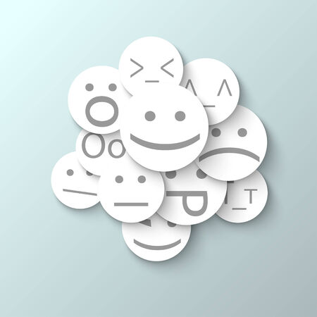 smilies 3 abstract design paper style Vector
