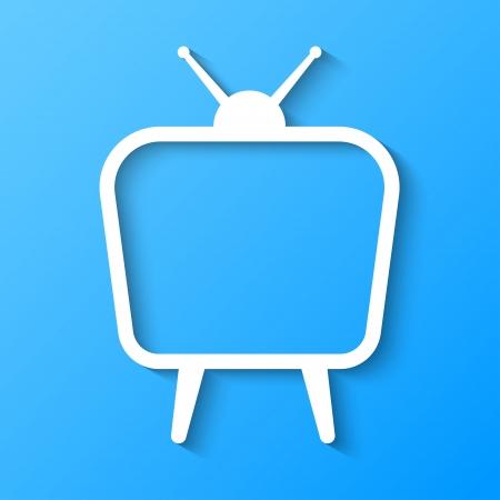 TV 3d abstract ontwerp papier stijl Stock Illustratie