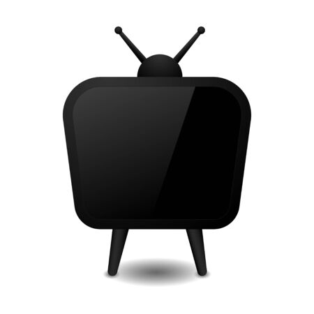 Old TV 3d abstract design black color