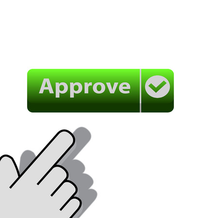 mouse click on the button approve wants Vector